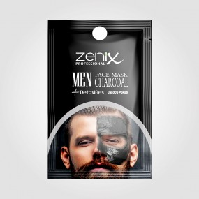 MEN FACE SERIES SACHETS CLAY MASK CHARCOAL 20 G